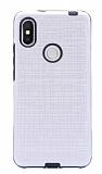 Eiroo Panther Xiaomi Redmi S2 Silikon Kenarlı Silver Rubber Kılıf