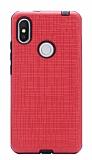 Eiroo Panther Xiaomi Redmi S2 Silikon Kenarlı Kırmızı Rubber Kılıf