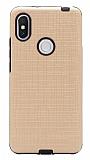 Eiroo Panther Xiaomi Redmi S2 Silikon Kenarlı Gold Rubber Kılıf