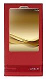 Huawei Mate 8 Gizli Mıknatıslı Pencereli Kırmızı Deri Kılıf