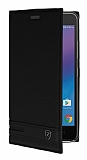 Lenovo K6 Gizli Mıknatıslı Yan Kapaklı Siyah Deri Kılıf