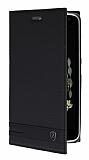 Lenovo Vibe K5 Note Gizli Mıknatıslı Yan Kapaklı Siyah Deri Kılıf