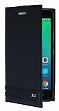 Lenovo Vibe S1 Gizli Mıknatıslı Siyah Deri Kılıf
