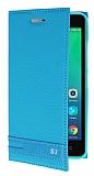 Lenovo Vibe S1 Gizli Mıknatıslı Mavi Deri Kılıf