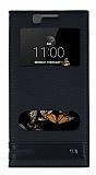 Eiroo Phantom LG K8 Gizli Mıknatıslı Pencereli Siyah Deri Kılıf
