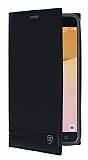 Samsung Galaxy J5 Prime Gizli Mıknatıslı Yan Kapaklı Siyah Deri Kılıf
