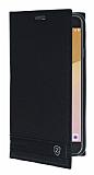 Eiroo Phantom Samsung Galaxy J7 Prime Gizli Mıknatıslı Yan Kapaklı Siyah Deri Kılıf