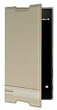 Sony Xperia Z5 Premium Gizli Mıknatıslı Yan Kapaklı Krem Deri Kılıf