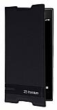 Sony Xperia Z5 Premium Gizli Mıknatıslı Yan Kapaklı Siyah Deri Kılıf
