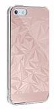 Eiroo Prism iPhone SE / 5 / 5S Silikon Kenarlı Rose Gold Rubber Kılıf