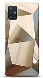 Eiroo Prizma Samsung Galaxy A51 Gold Rubber Kılıf