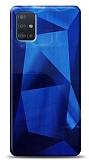 Eiroo Prizma Samsung Galaxy A51 Mavi Rubber Kılıf