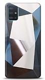 Eiroo Prizma Samsung Galaxy A51 Silver Rubber Kılıf