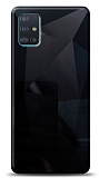 Eiroo Prizma Samsung Galaxy A51 Siyah Rubber Kılıf