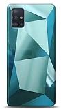 Eiroo Prizma Samsung Galaxy A51 Turkuaz Rubber Kılıf