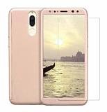 Eiroo Protect Fit 2 Huawei Mate 10 Lite 360 Derece Koruma Gold Rubber Kılıf + Cam