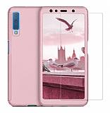 Eiroo Protect Fit 2 Samsung Galaxy A7 2018 360 Derece Koruma Rose Gold Rubber Kılıf + Cam