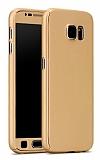 Eiroo Protect Fit Samsung Galaxy Note 5 360 Derece Koruma Gold Kılıf