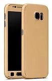 Eiroo Protect Fit Samsung Galaxy S7 360 Derece Koruma Gold Rubber Kılıf
