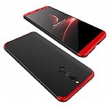 Eiroo Protect Fit Huawei Mate 10 Lite 360 Derece Koruma Siyah-Kırmızı Rubber Kılıf