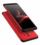 Eiroo Protect Fit Huawei Mate 10 Lite 360 Derece Koruma Kırmızı-Siyah Rubber Kılıf