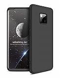 Zore GKK Ays Huawei Mate 20 Pro 360 Derece Koruma Siyah Rubber Kılıf