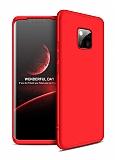 Eiroo Protect Fit Huawei Mate 20 Pro 360 Derece Koruma Kırmızı Rubber Kılıf