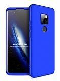 Eiroo Protect Fit Huawei Mate 30 Lite 360 Derece Koruma Lacivert Rubber Kılıf