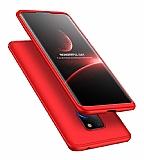 Eiroo Protect Fit Huawei Mate 30 Lite 360 Derece Koruma Kırmızı Rubber Kılıf
