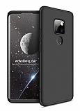 Eiroo Protect Fit Huawei Mate 30 Lite 360 Derece Koruma Siyah Rubber Kılıf