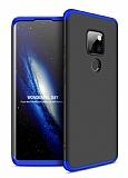 Eiroo Protect Fit Huawei Mate 30 Lite 360 Derece Koruma Lacivert-Siyah Rubber Kılıf