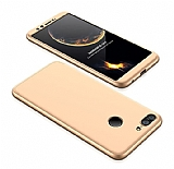 Eiroo Protect Fit Huawei P Smart 360 Derece Koruma Gold Rubber Kılıf