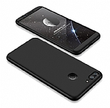 Eiroo Protect Fit Huawei P Smart 360 Derece Koruma Siyah Rubber Kılıf