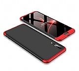 Eiroo Protect Fit Huawei P20 360 Derece Koruma Kırmızı-Siyah Rubber Kılıf