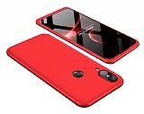 Eiroo Protect Fit Huawei P20 Lite 360 Derece Koruma Kırmızı Rubber Kılıf