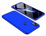 Eiroo Protect Fit Huawei P20 Lite 360 Derece Koruma Lacivert Rubber Kılıf