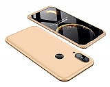 Eiroo Protect Fit Huawei P20 Lite 360 Derece Koruma Gold Rubber Kılıf