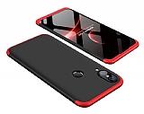 Eiroo Protect Fit Huawei P20 Lite 360 Derece Koruma Kırmızı-Siyah Rubber Kılıf