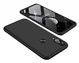 Eiroo Protect Fit Huawei P20 Lite 360 Derece Koruma Siyah Rubber Kılıf
