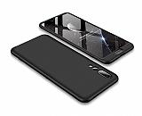 Eiroo Protect Fit Huawei P20 Pro 360 Derece Koruma Siyah Rubber Kılıf
