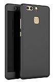 Eiroo Protect Fit Huawei P9 360 Derece Koruma Siyah Rubber Kılıf