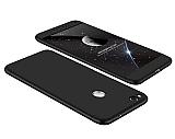 Eiroo Protect Fit Huawei P9 Lite 2017 360 Derece Koruma Siyah Rubber Kılıf