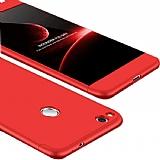 Eiroo Protect Fit Huawei P9 Lite 2017 360 Derece Koruma Kırmızı Rubber Kılıf