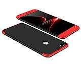 Zore GKK Ays Huawei P9 Lite 2017 360 Derece Koruma Siyah-Kırmızı Rubber Kılıf