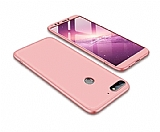 Eiroo Protect Fit Huawei Y7 2018 360 Derece Koruma Rose Gold Rubber Kılıf