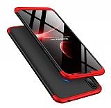 Eiroo Protect Fit Huawei Y7 Prime 2019 360 Derece Koruma Siyah-Kırmızı Rubber Kılıf