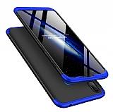 Eiroo Protect Fit Huawei Y7 Prime 2019 360 Derece Koruma Siyah-Lacivert Rubber Kılıf