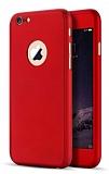 Eiroo Protect Fit iPhone 6 Plus / 6S Plus 360 Derece Koruma Kırmızı Rubber Kılıf