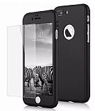 Eiroo Protect Fit iPhone 7 Plus 360 Derece Koruma Siyah Rubber Kılıf