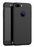 Eiroo Protect Fit iPhone 7 Plus 360 Derece Koruma Siyah Kılıf